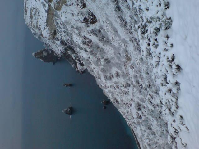 Подборка фотографий о снеге на мысе Фиолент (Севастополь)